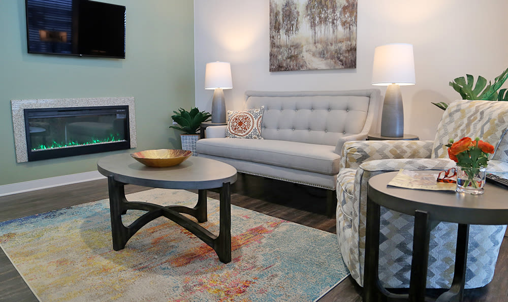 apartment living room at St. Anthony's Senior Living