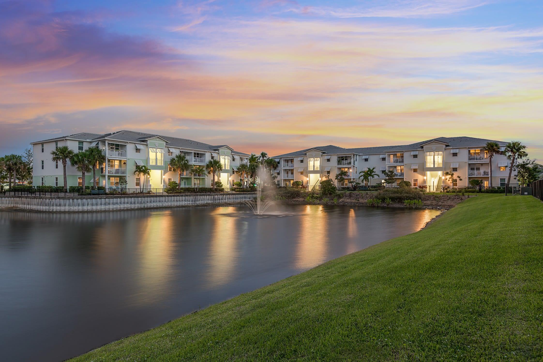Exterior view of our apartments at High Ridge Landing in Boynton Beach, Florida