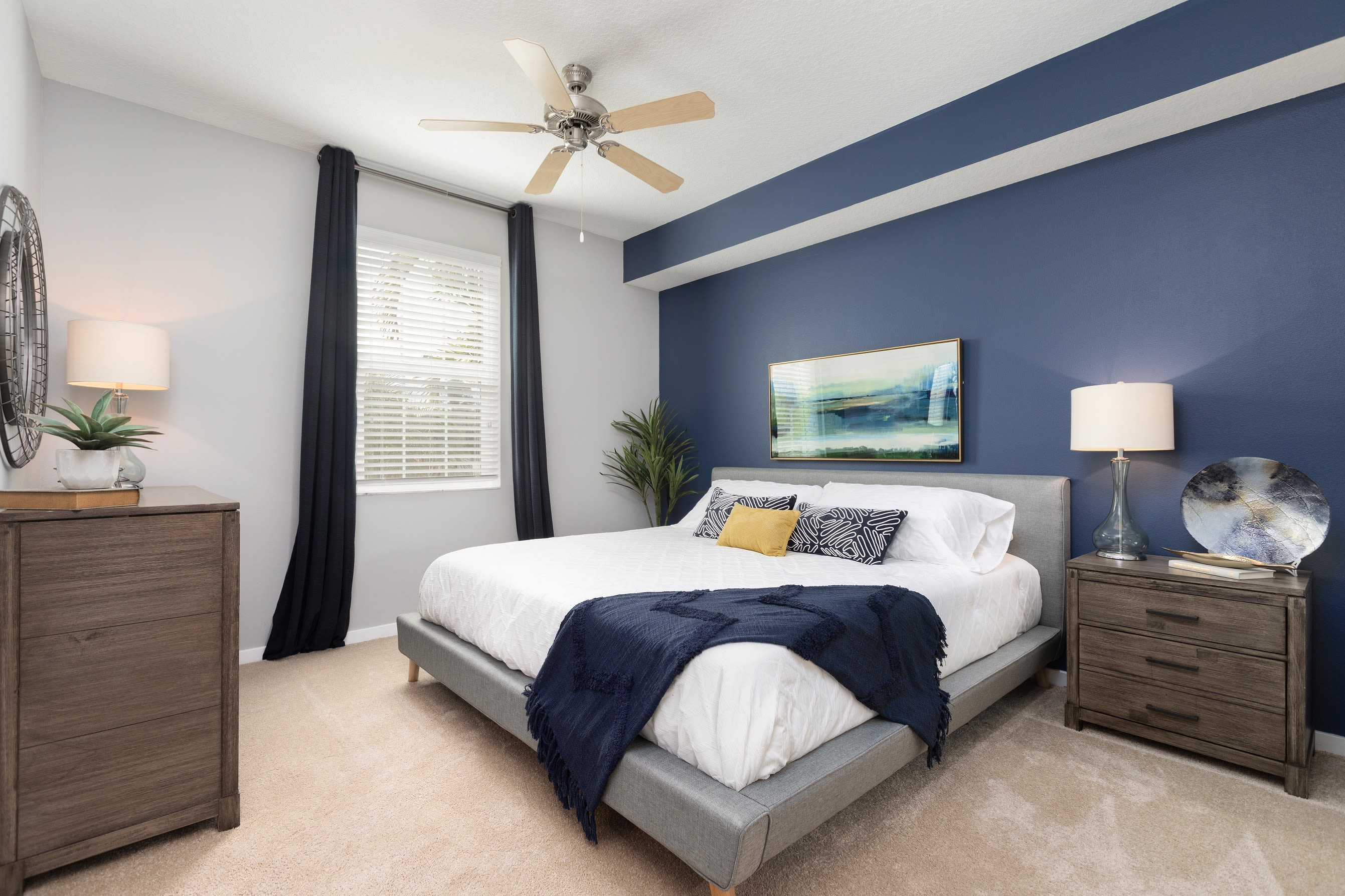Well lit main bedroom at High Ridge Landing in Boynton Beach, Florida