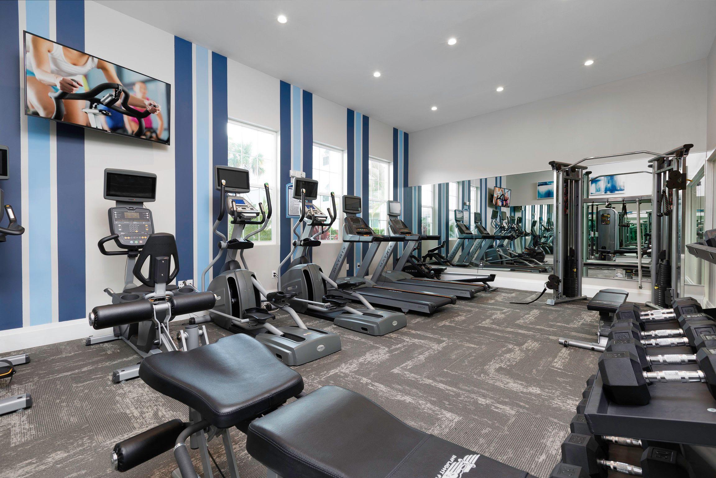 View virtual tour of our fitness center at High Ridge Landing in Boynton Beach, Florida