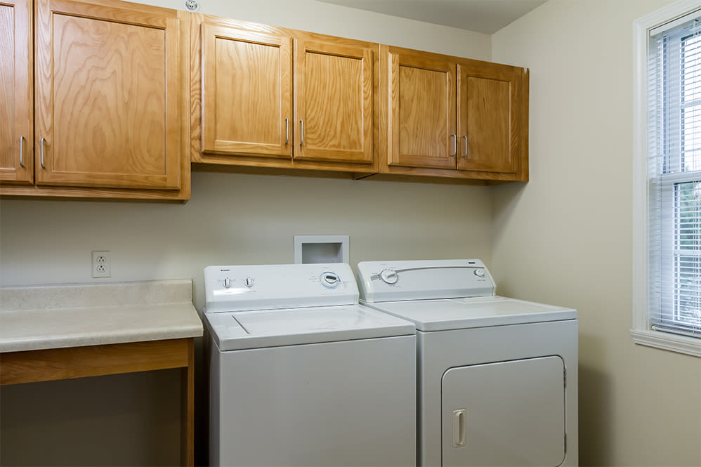 Villas of Victor & Regency Townhomes in Victor, New York showcase a washer and dryer