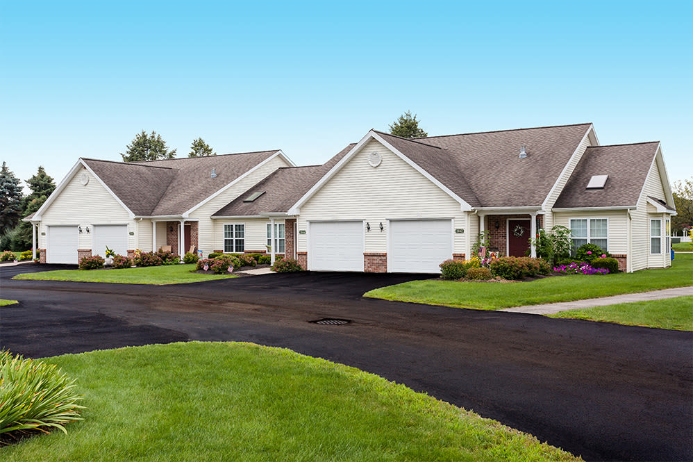 Villas of Victor & Regency Townhomes driveway in Victor, New York