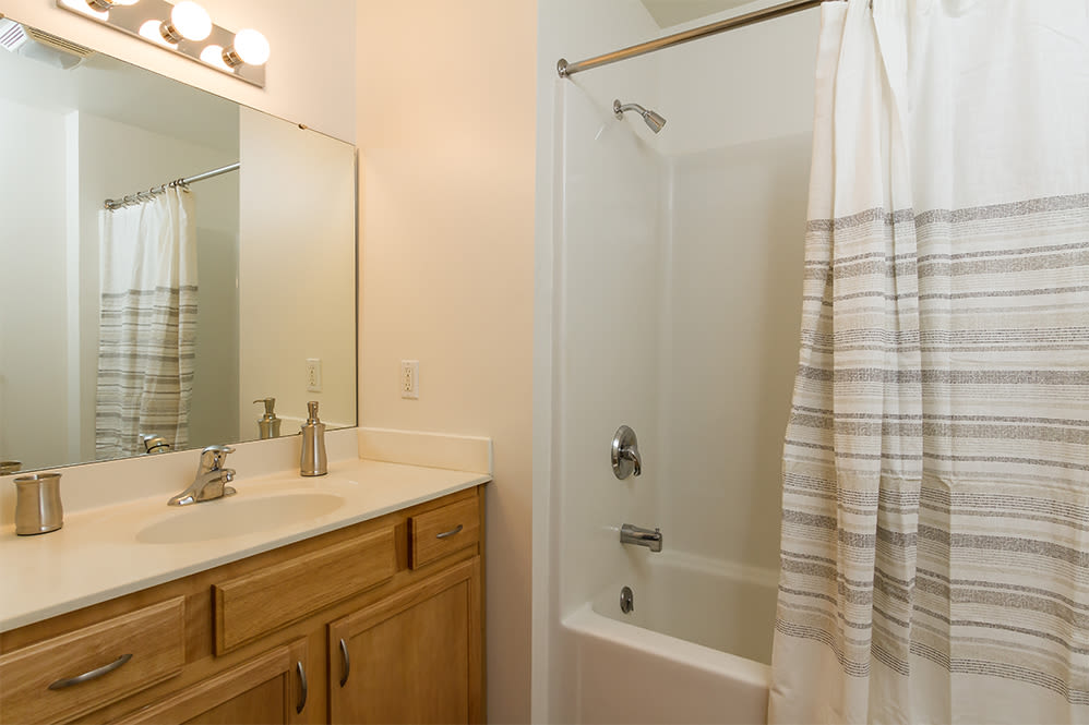 Well-lit Bathroom at Villas of Victor & Regency Townhomes in Victor, New York