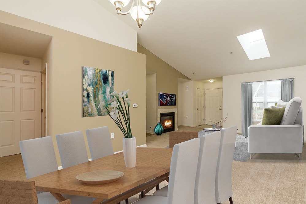 Elegant dining table at Villas of Victor and Regency Townhomes in Victor, NY