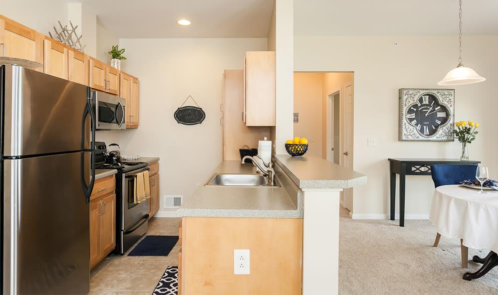 Beautiful kitchen at Saratoga Crossing in Farmington, NY