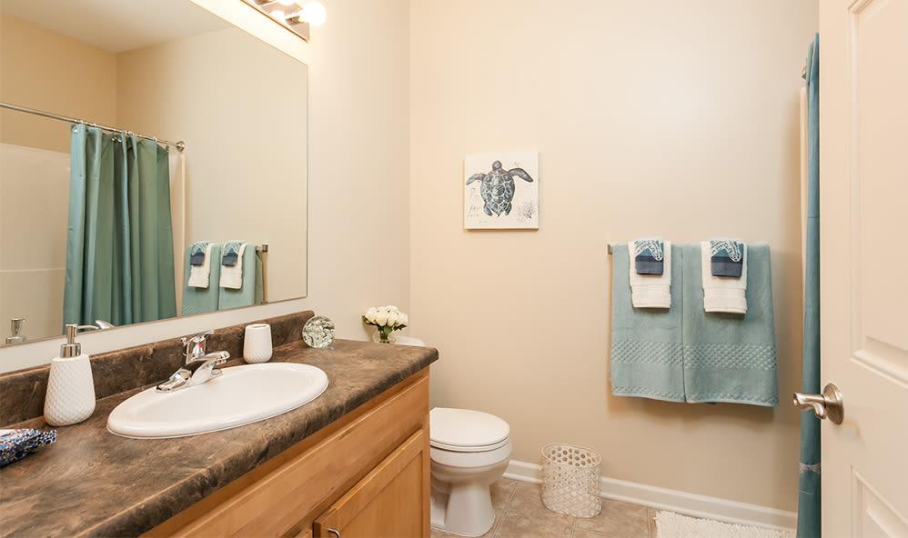 Bathroom at Saratoga Crossing home