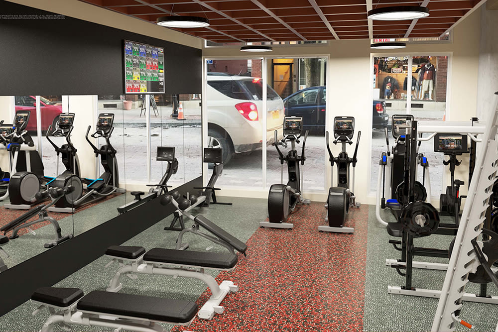 Enjoy a fitness center at our beautiful apartments
