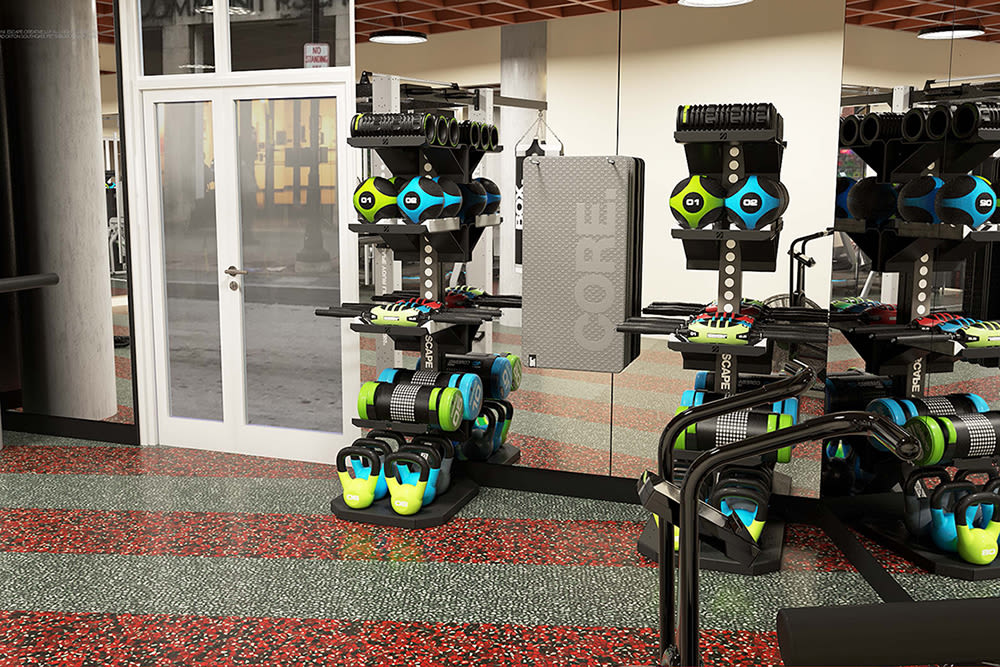 City Centre Ithaca offers state-of-the-art equipment at their fitness center in Ithaca, New York