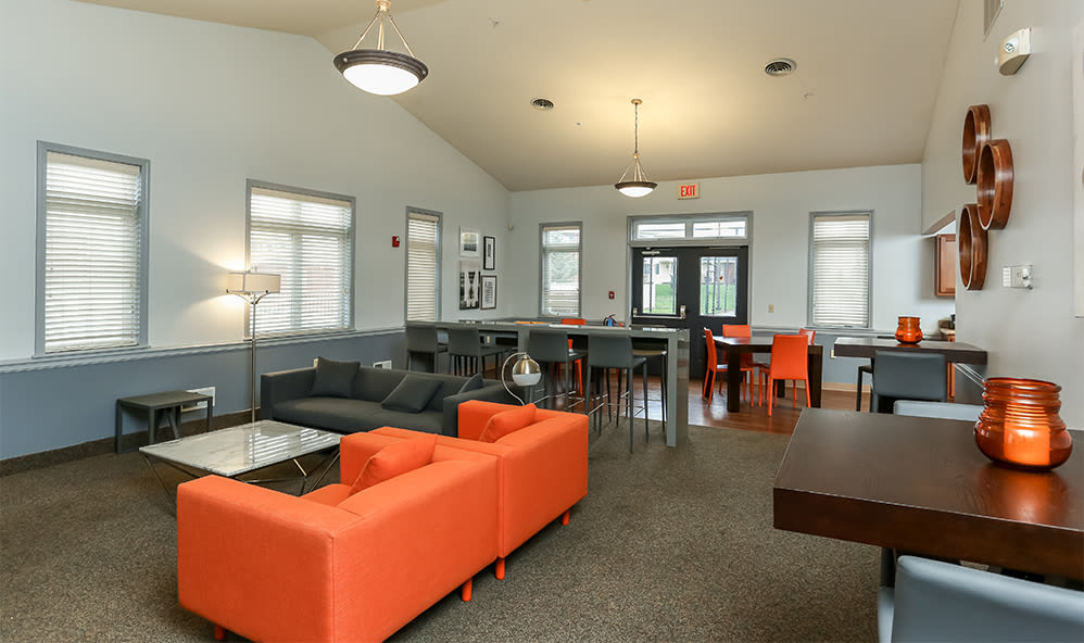 CenterPointe Apartments and Townhomes clubhouse interior in Canandaigua