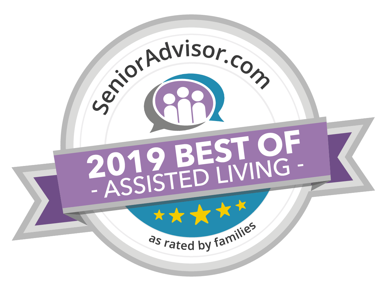 Senior Advisor award for 2019 best of assisted living at White Oaks in Lawton, Michigan