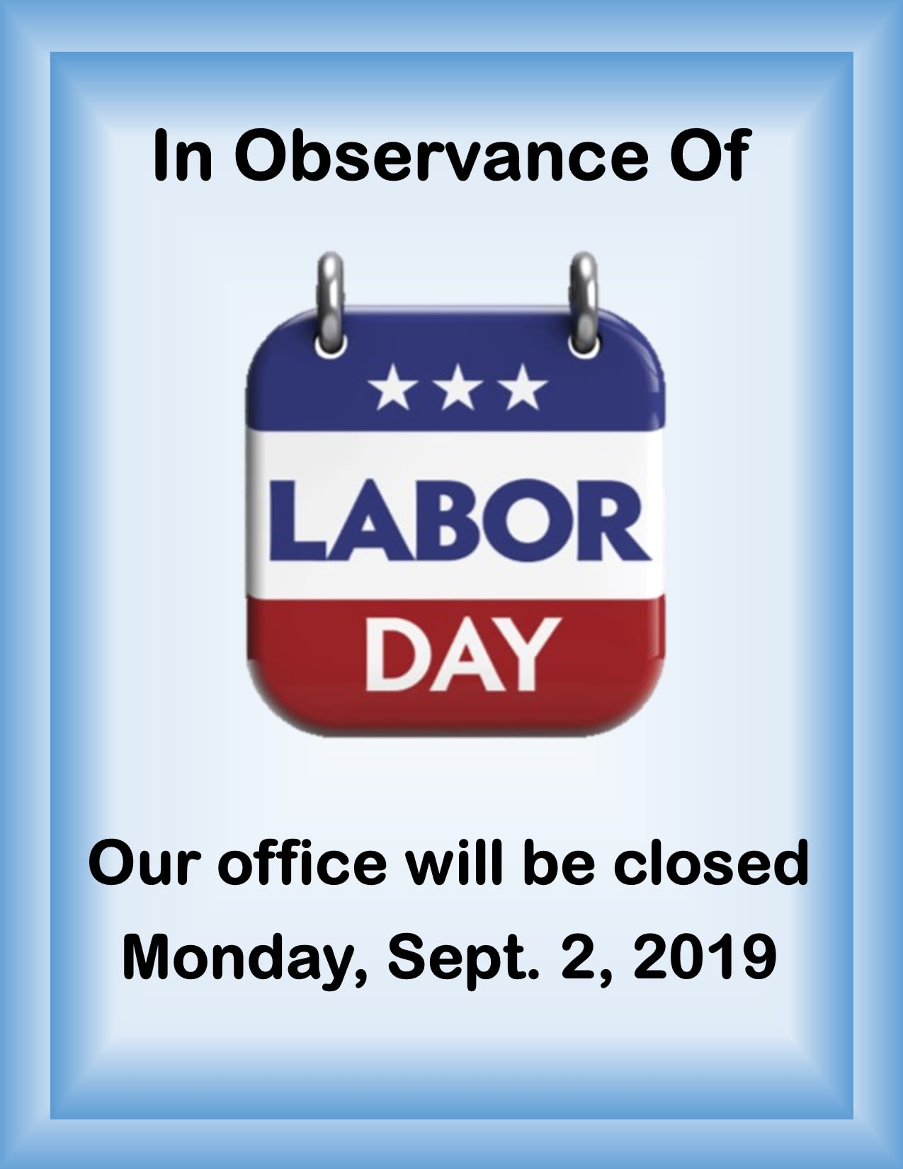 Image result for closed on labor day 2019