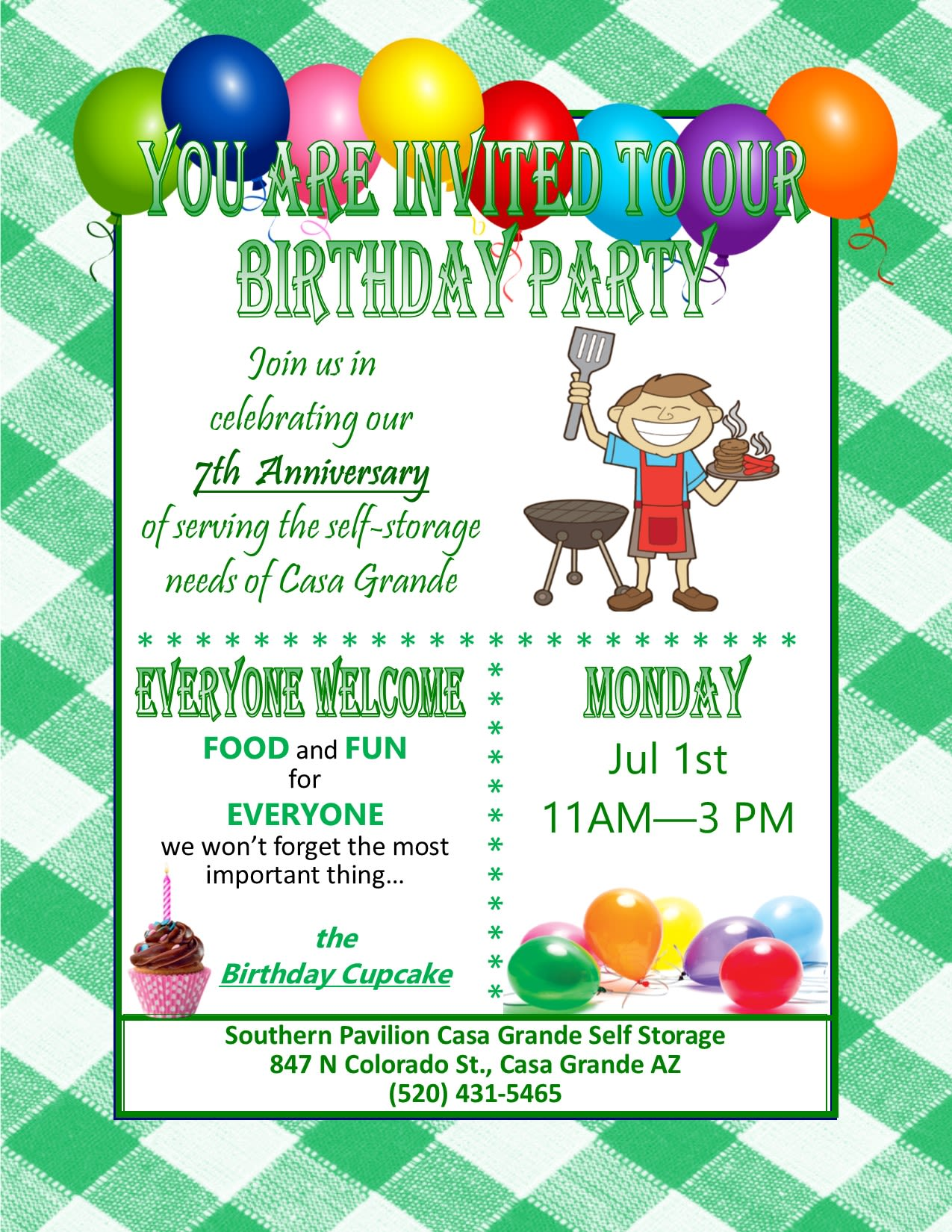 7th Birthday Party