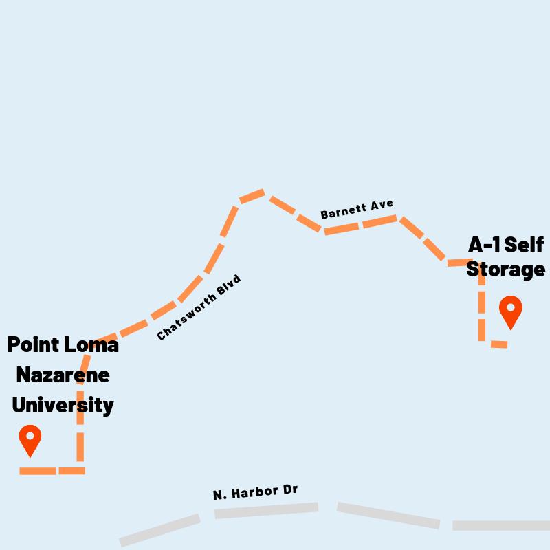 Self Storage Units Near Point Loma Nazarene University | A-1