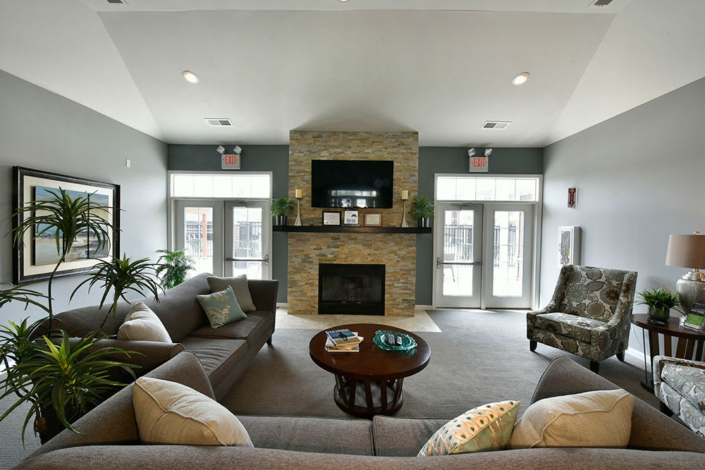 Clubhouse interior at Overlook Apartments in Elsmere, KY