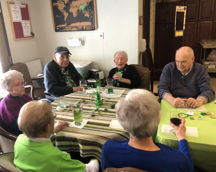 seniors' St. Patrick's Day celebration at Moran Vista