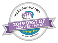"""2019 Winner of SeniorAdvisor.com's """"Best of Assisted Living"""""""