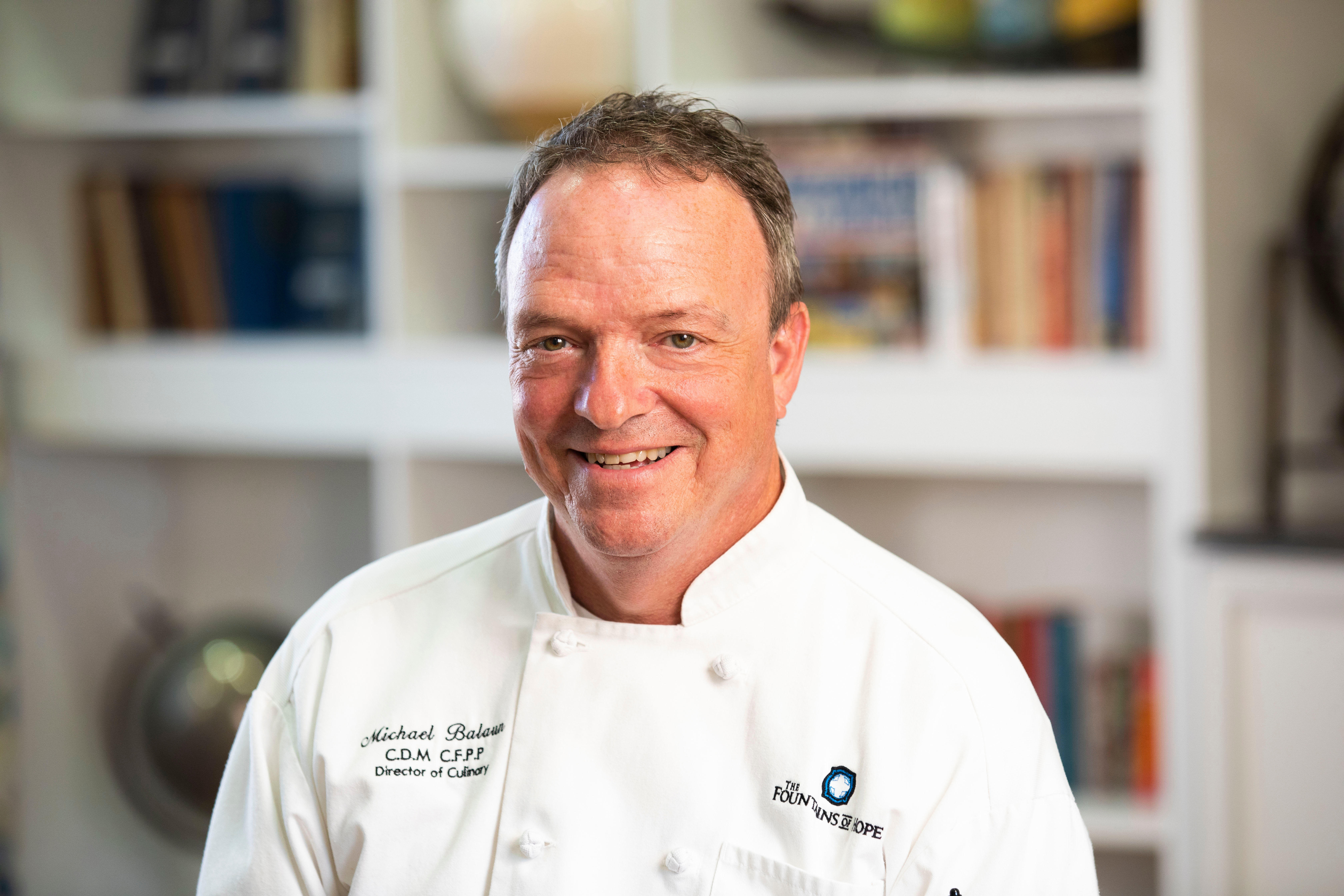 Director of Dining Services - Chef Michael Balaun at The Fountains of Hope in Sarasota, Florida