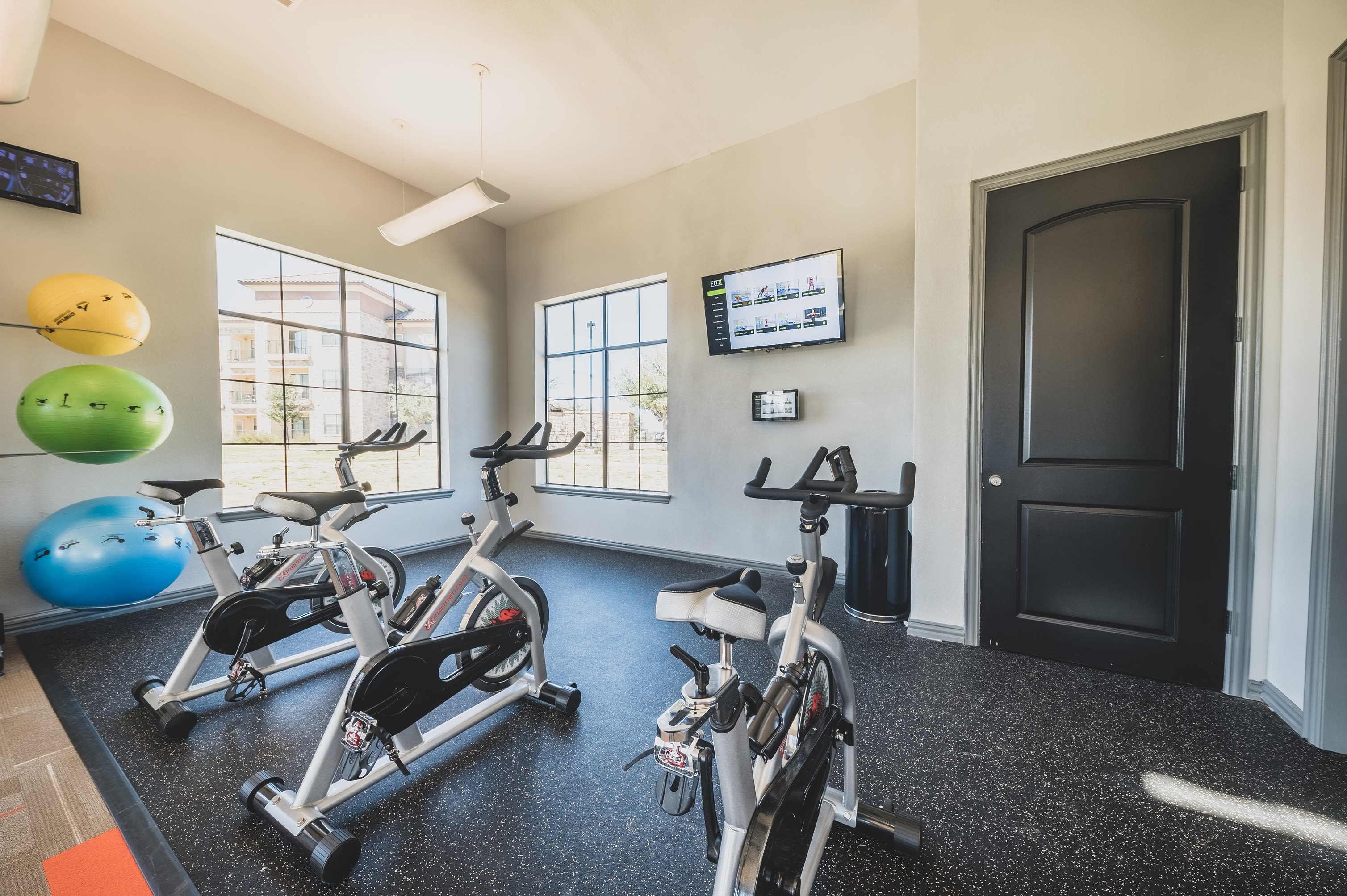 Fitness center at Evolv in Mansfield, Texas