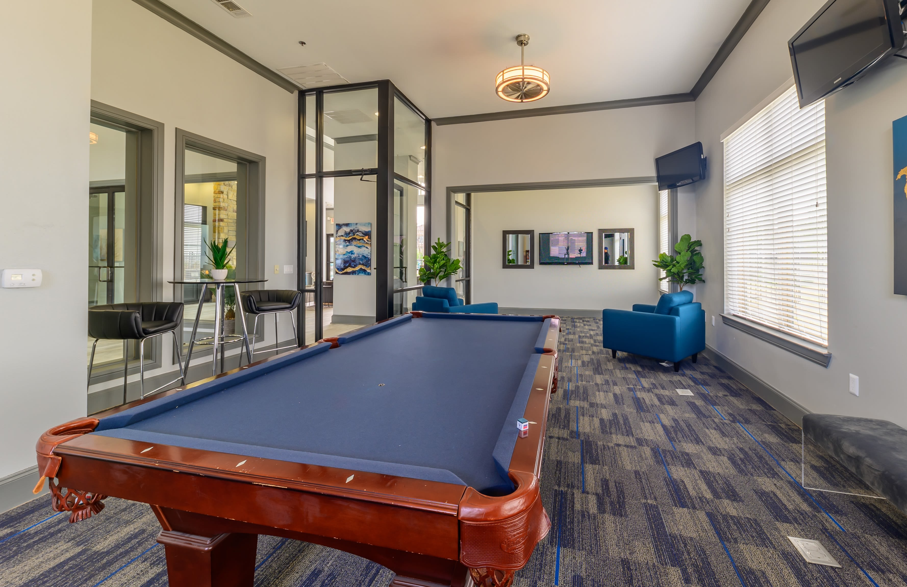 Billiards room at Evolv in Mansfield, Texas