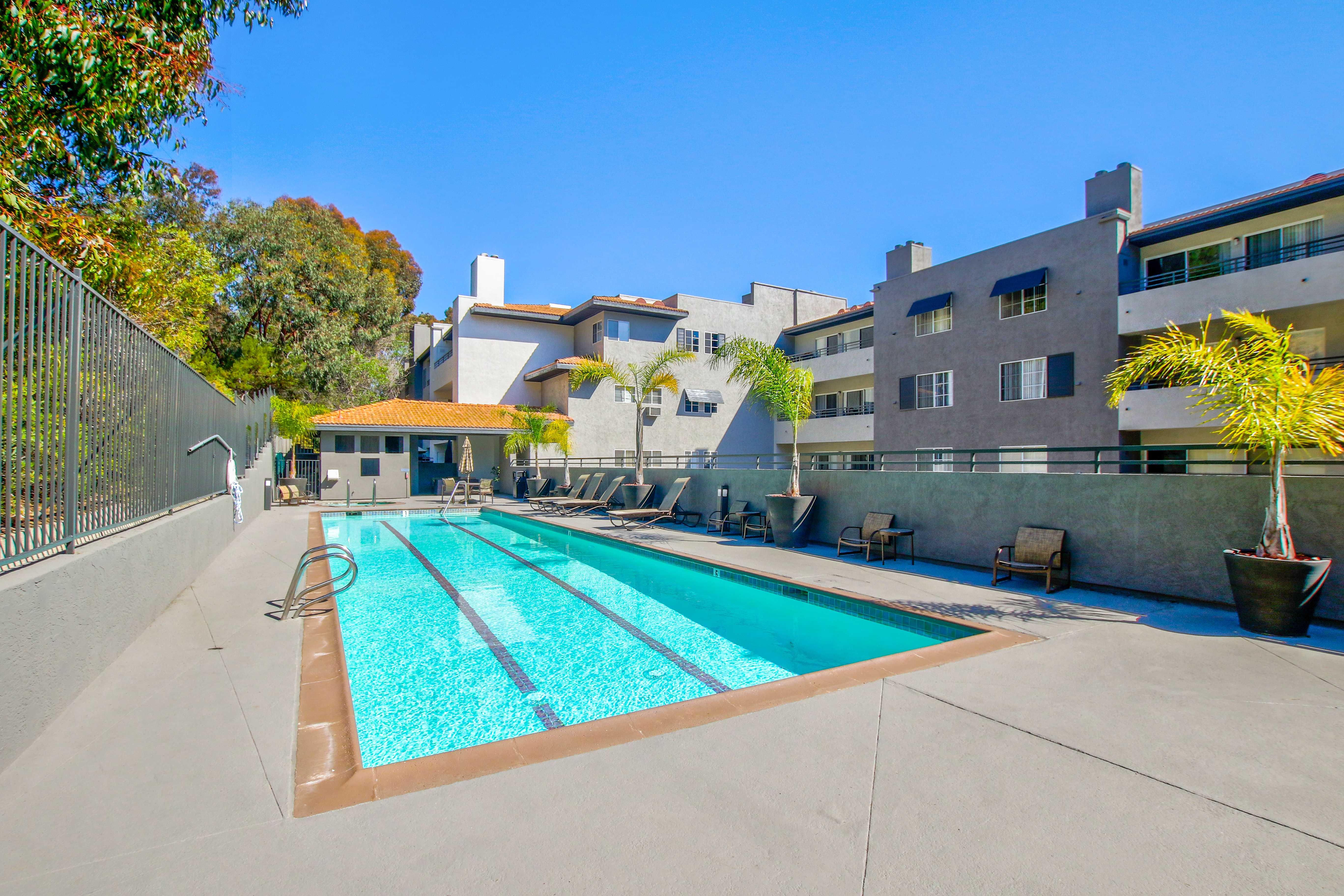 Spacious pool in San Diego, California