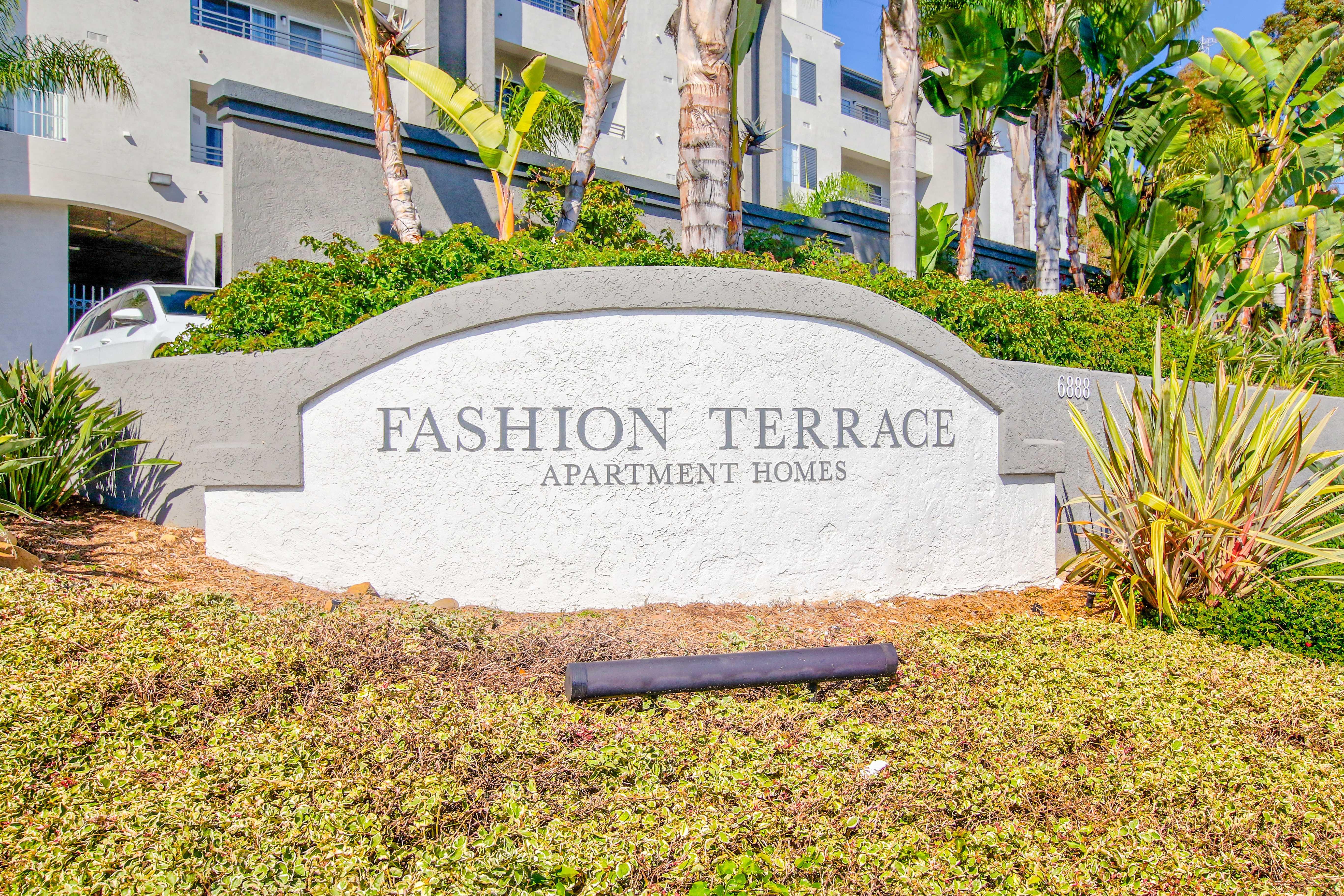 Apartment sign in San Diego, California