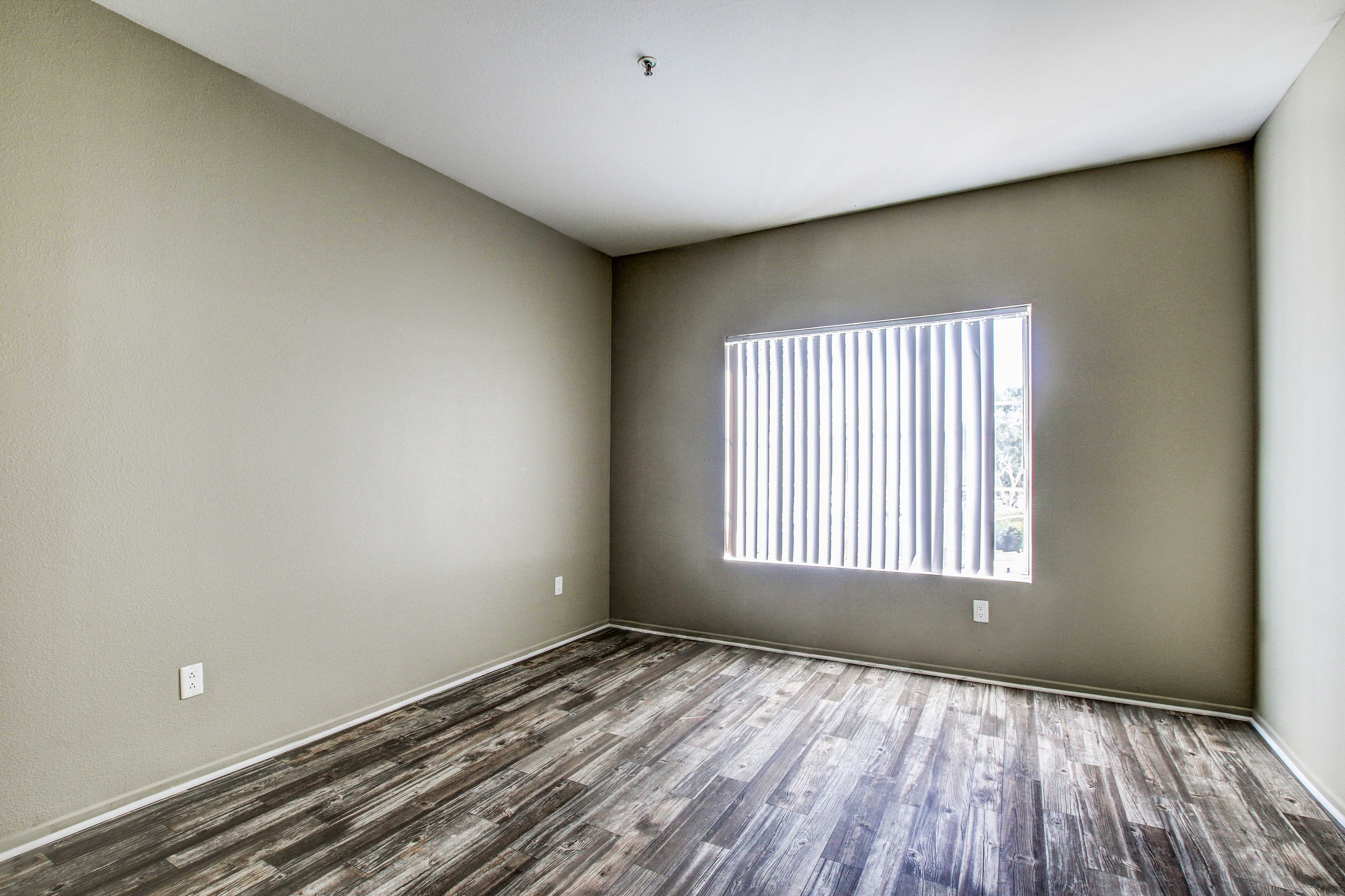 Bedroom at apartments in San Diego, California
