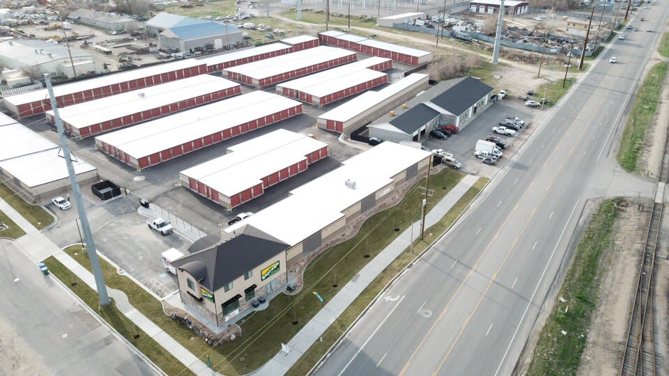 Aerial view of the complex at Towne Storage in Orem, Utah