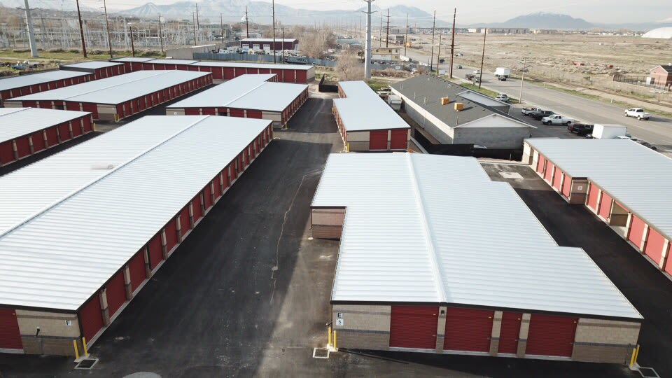 Birds eye view of the units at Towne Storage in Orem, Utah