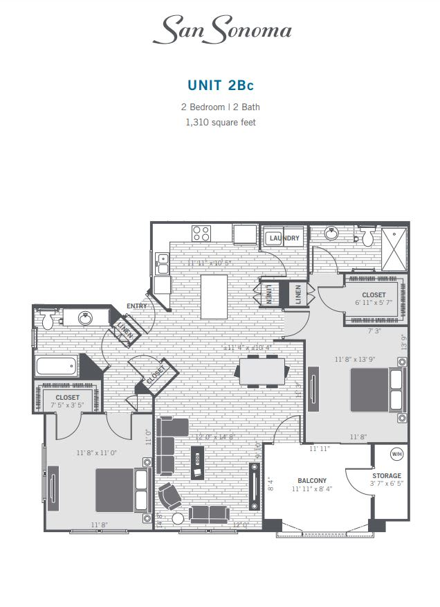 2Bc 2D floor plan