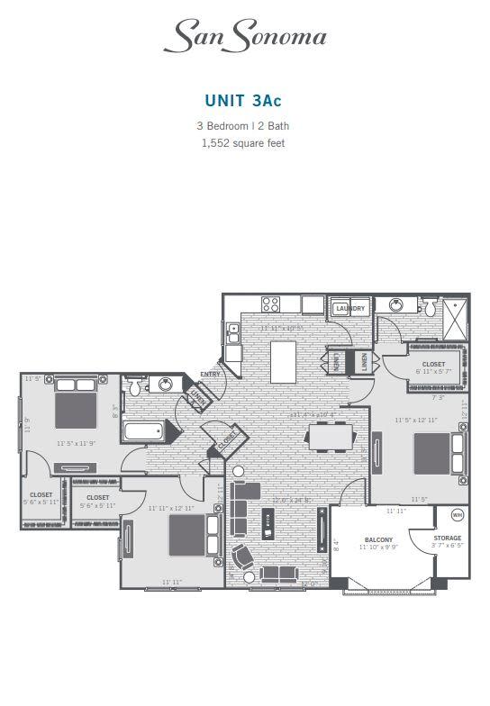 3Ac 2D floor plan