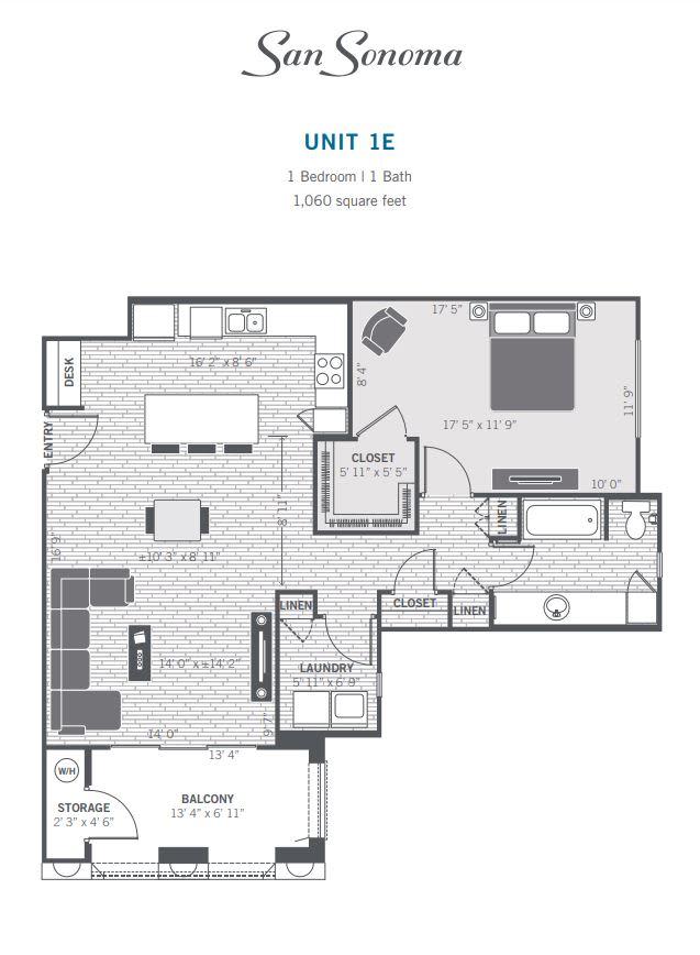 1E 2D floor plan