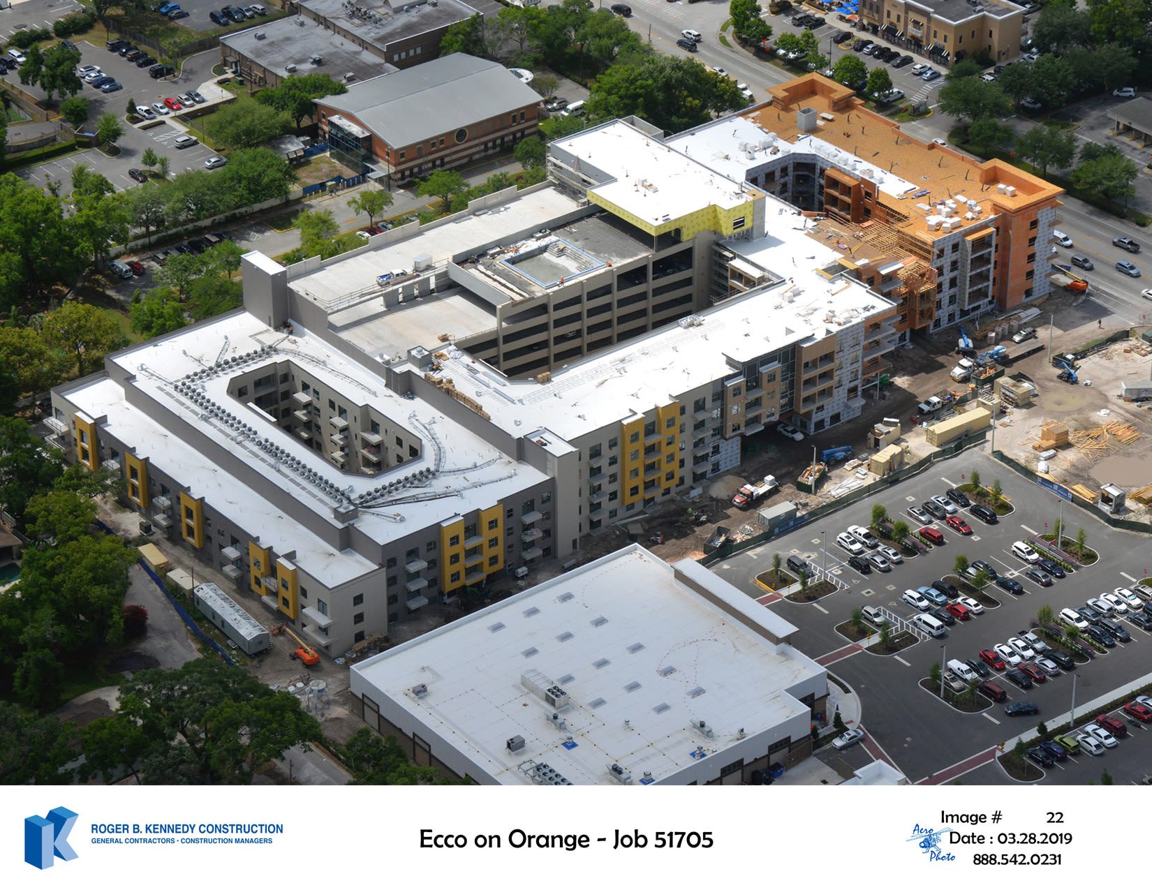 Arial View of Construction ECCO on Orange