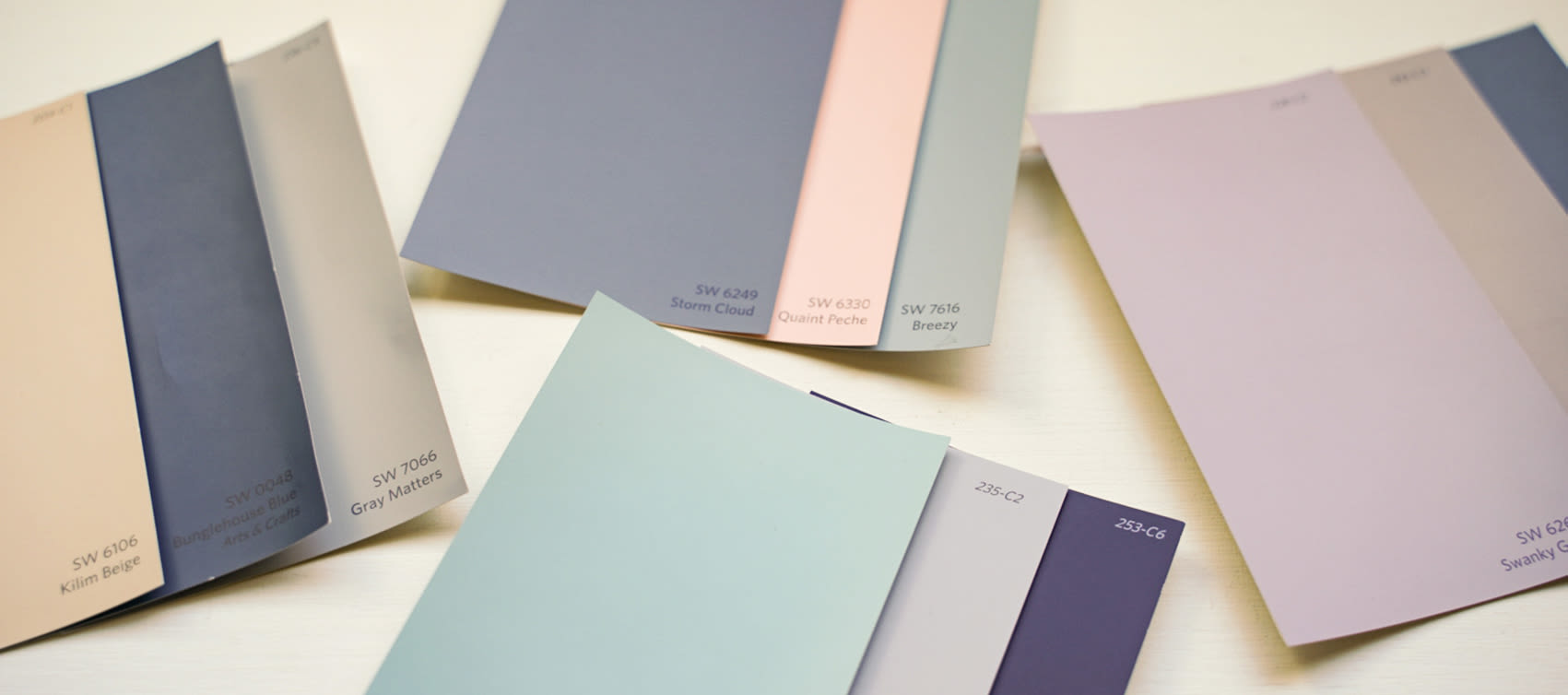 Paint Swatches at Seventeen Mile Drive Village Apartment Homes in Pacific Grove