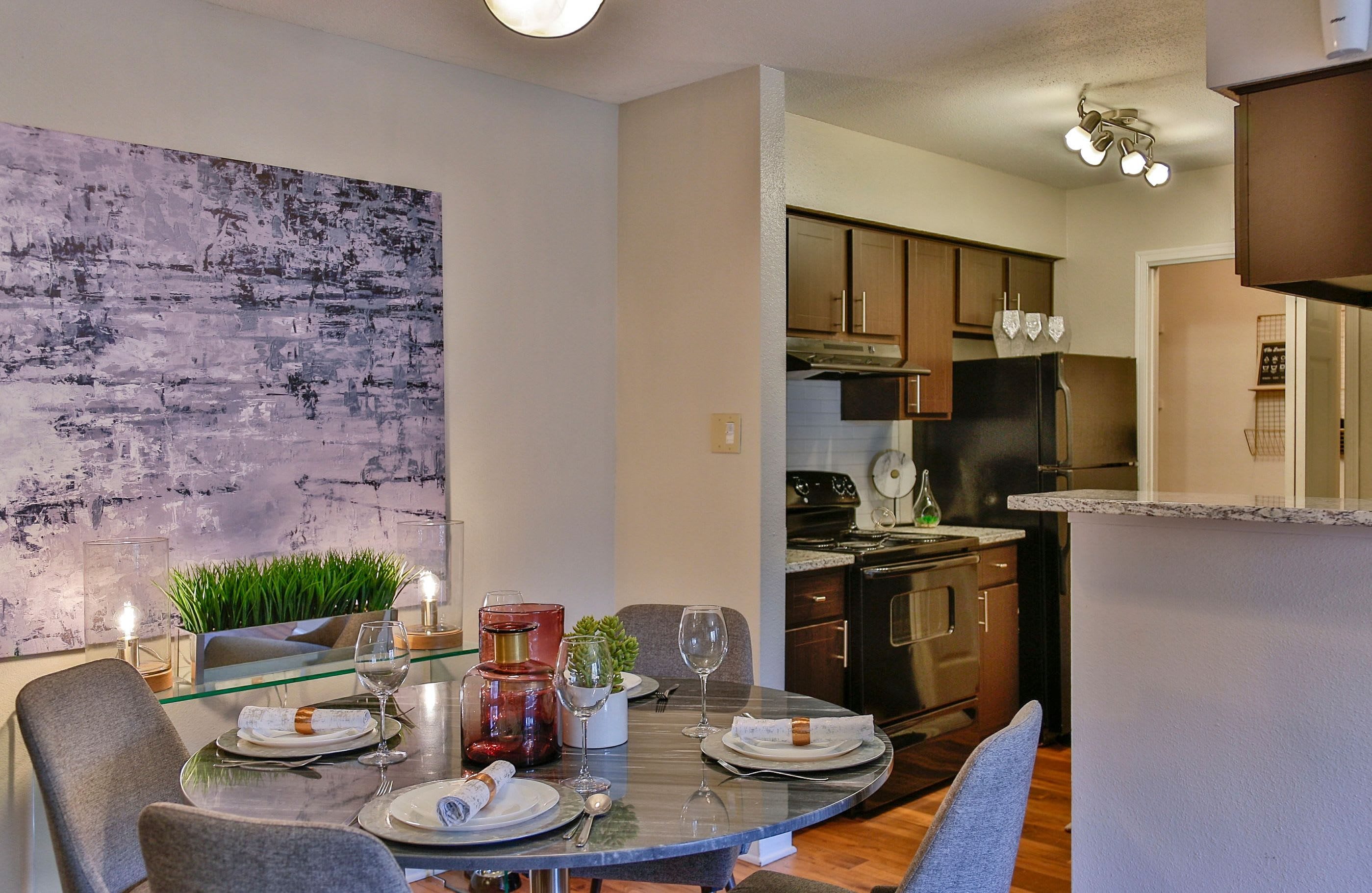 Dining area in model home at Allegro on Bell in Antioch, Tennessee