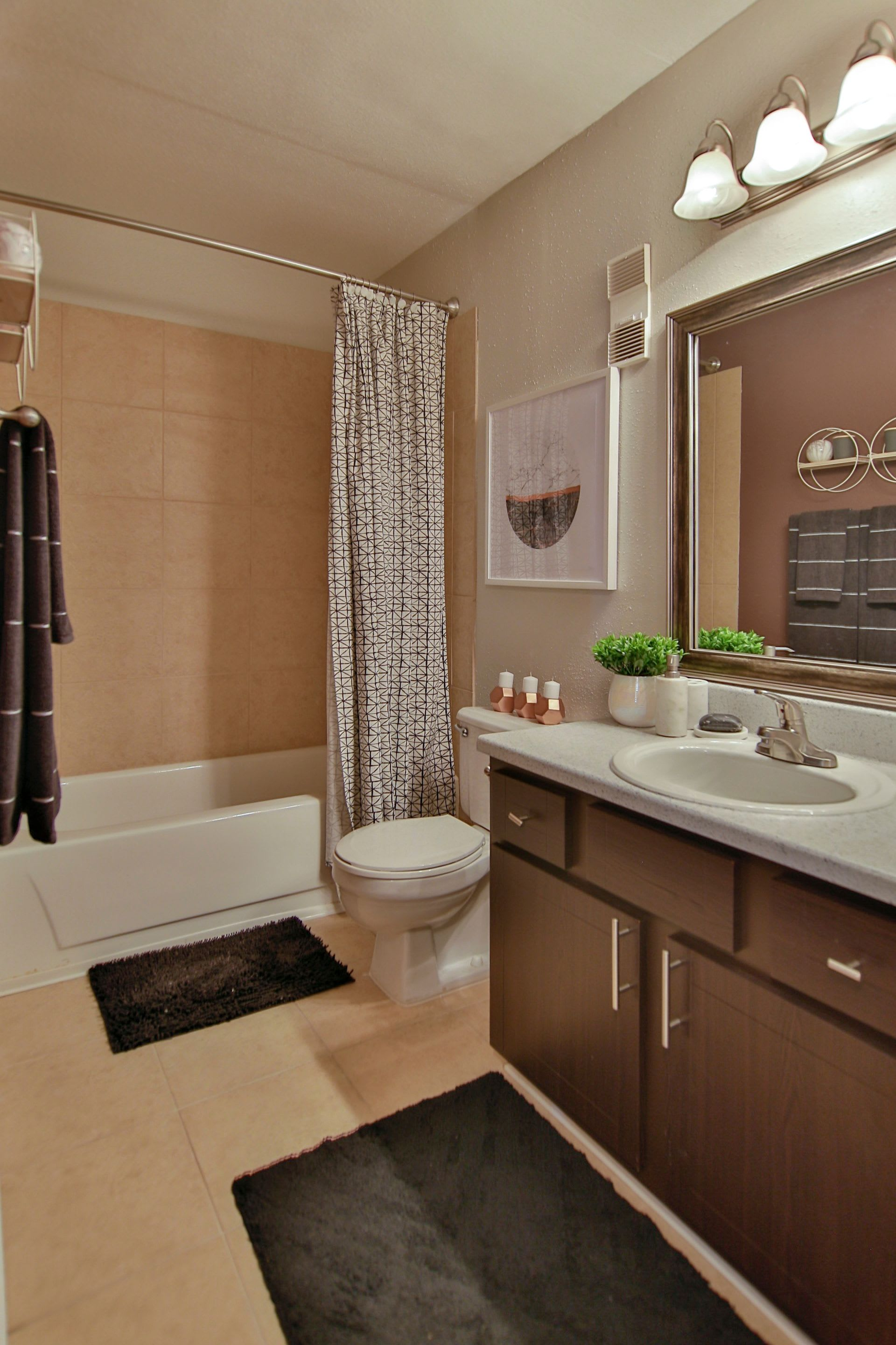 Master bathroom in model home at Allegro on Bell in Antioch, Tennessee