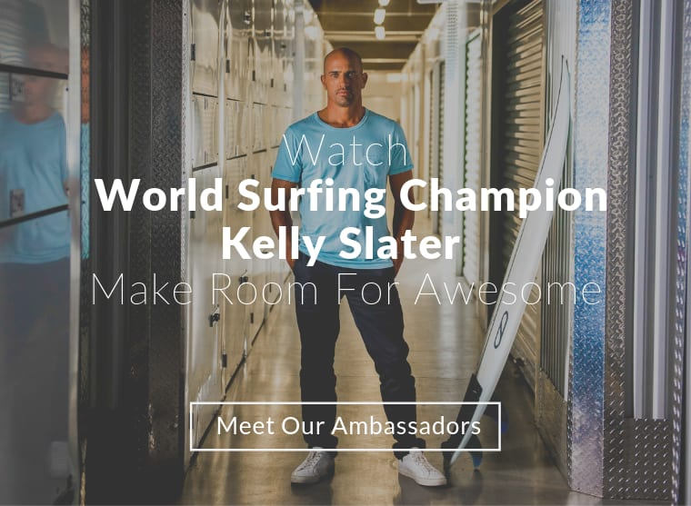 World Surfing Champion Kelly Slater, Ambassador of StorQuest Self Storage