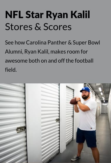 Ryan Kalil Parters with StorQuest Self Storage as an ambassador
