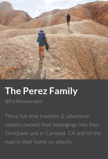 The Perez Family , ambassadors for StorQuest Self Storage in Santa Monica, California
