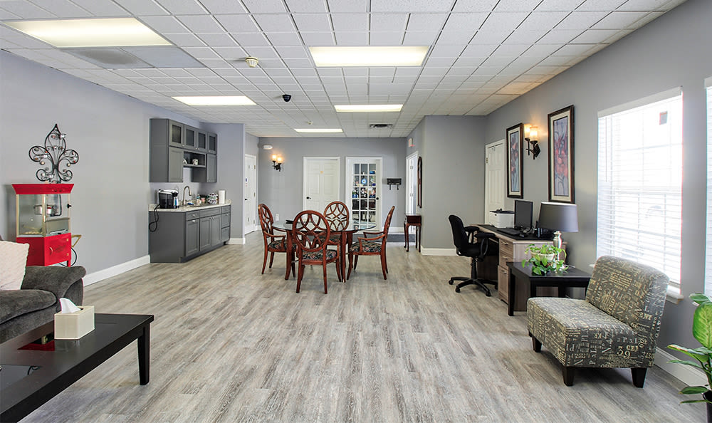 Relax in our spacious clubhouse in Rochester, NY
