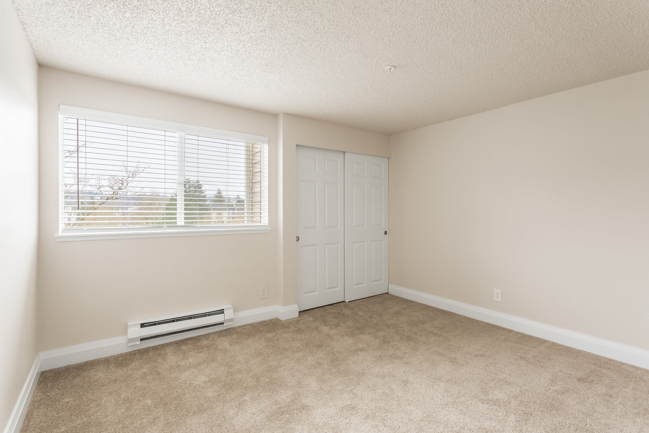 Spacious bedroom of Alaire Apartments in Renton, Washington