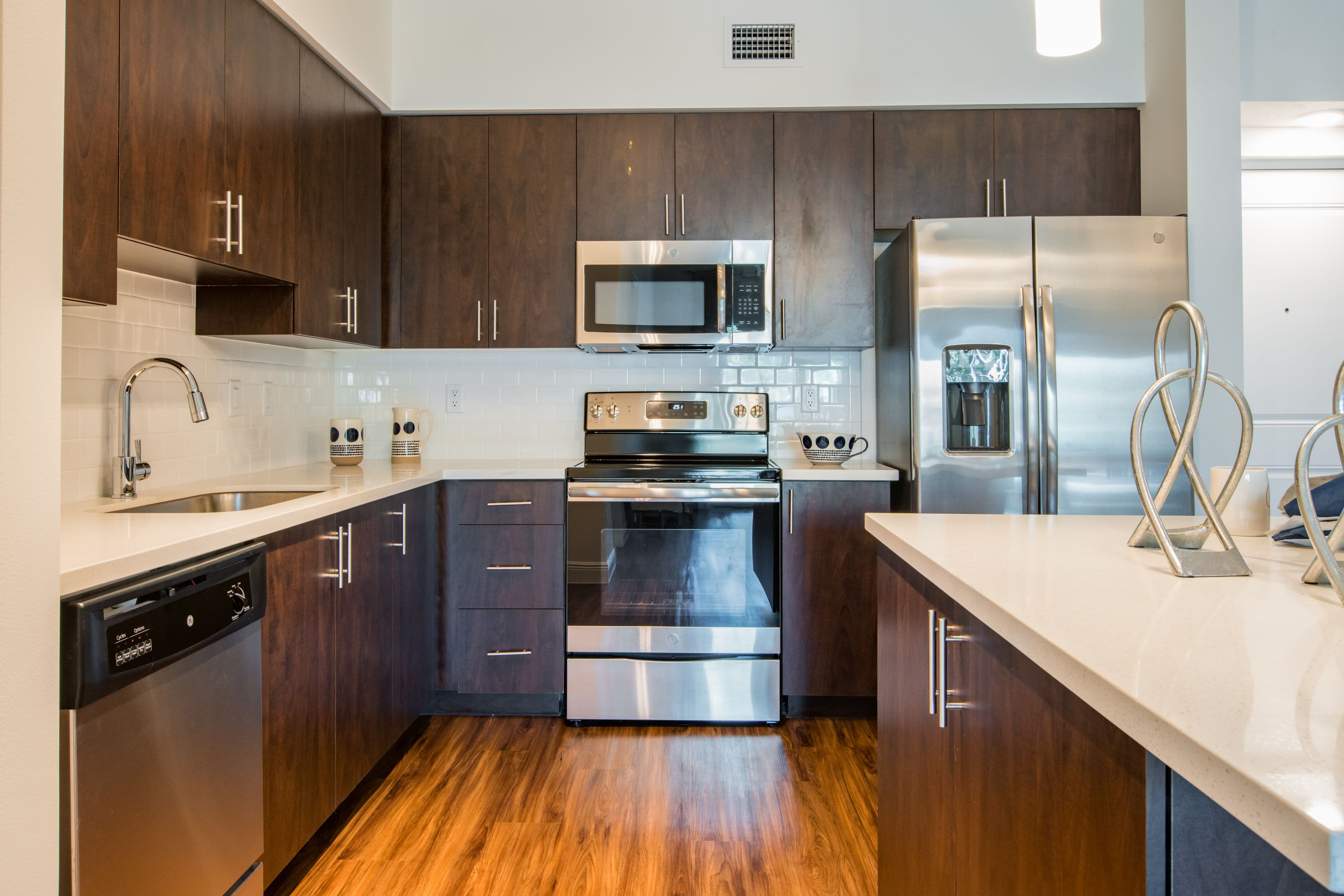 Modern Kitchen at Luma Miramar Apartments in Miramar, Florida