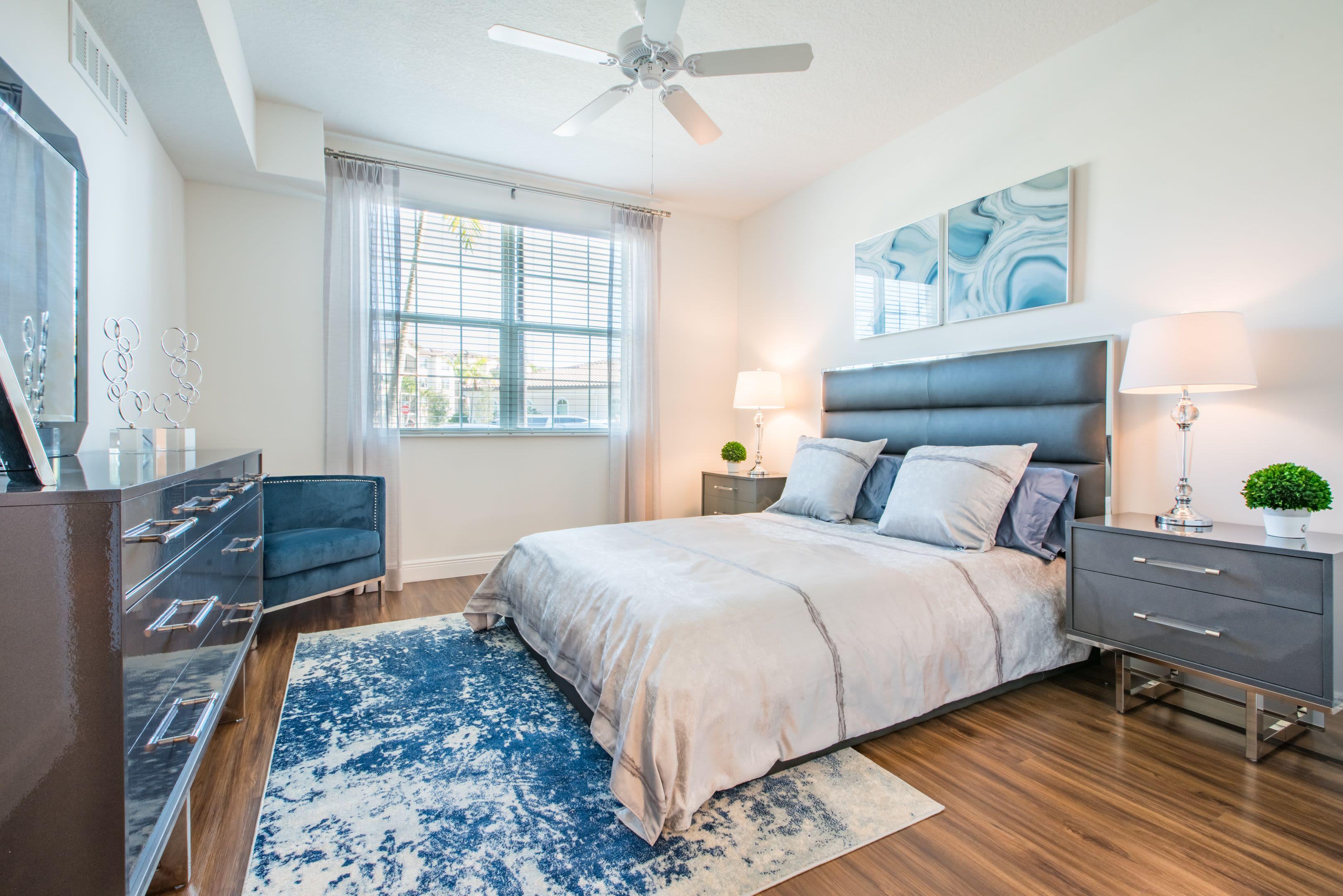 Bedroom Area at Luma Miramar Apartments in Miramar, Florida.