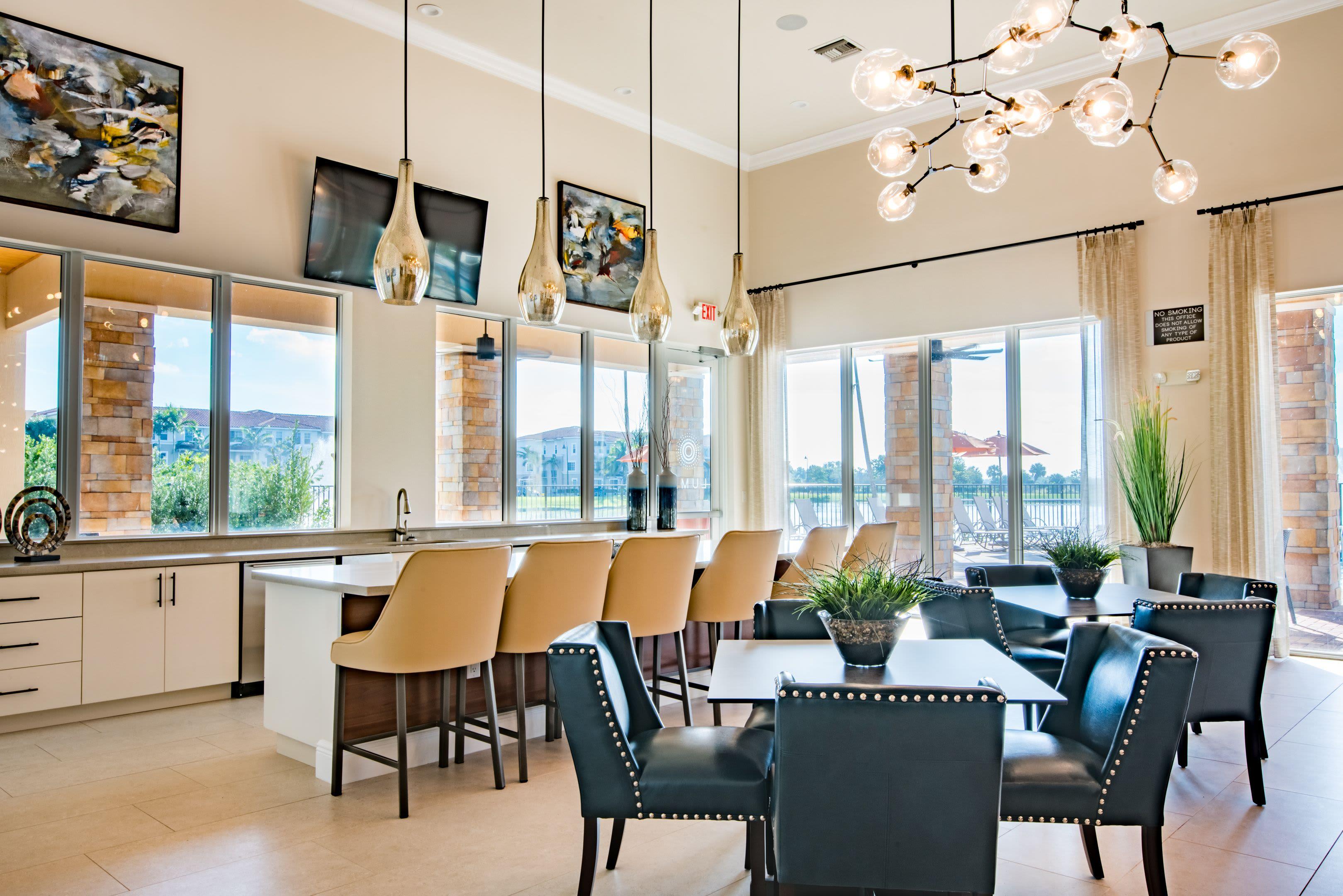 Resident Lounge at Luma Miramar Apartments in Miramar, Florida