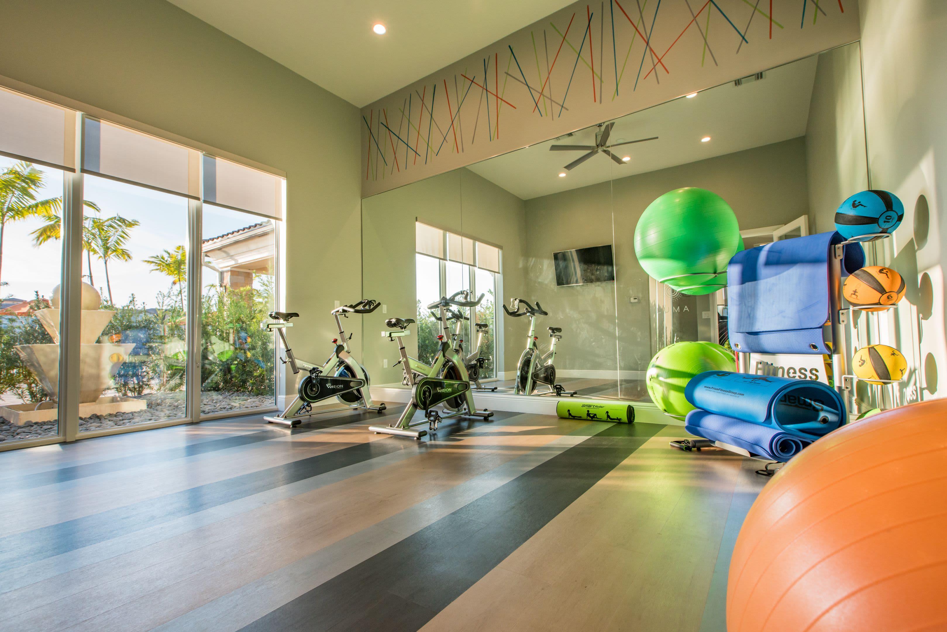 Fitness Facility at Luma Miramar Apartments in Miramar, Florida.