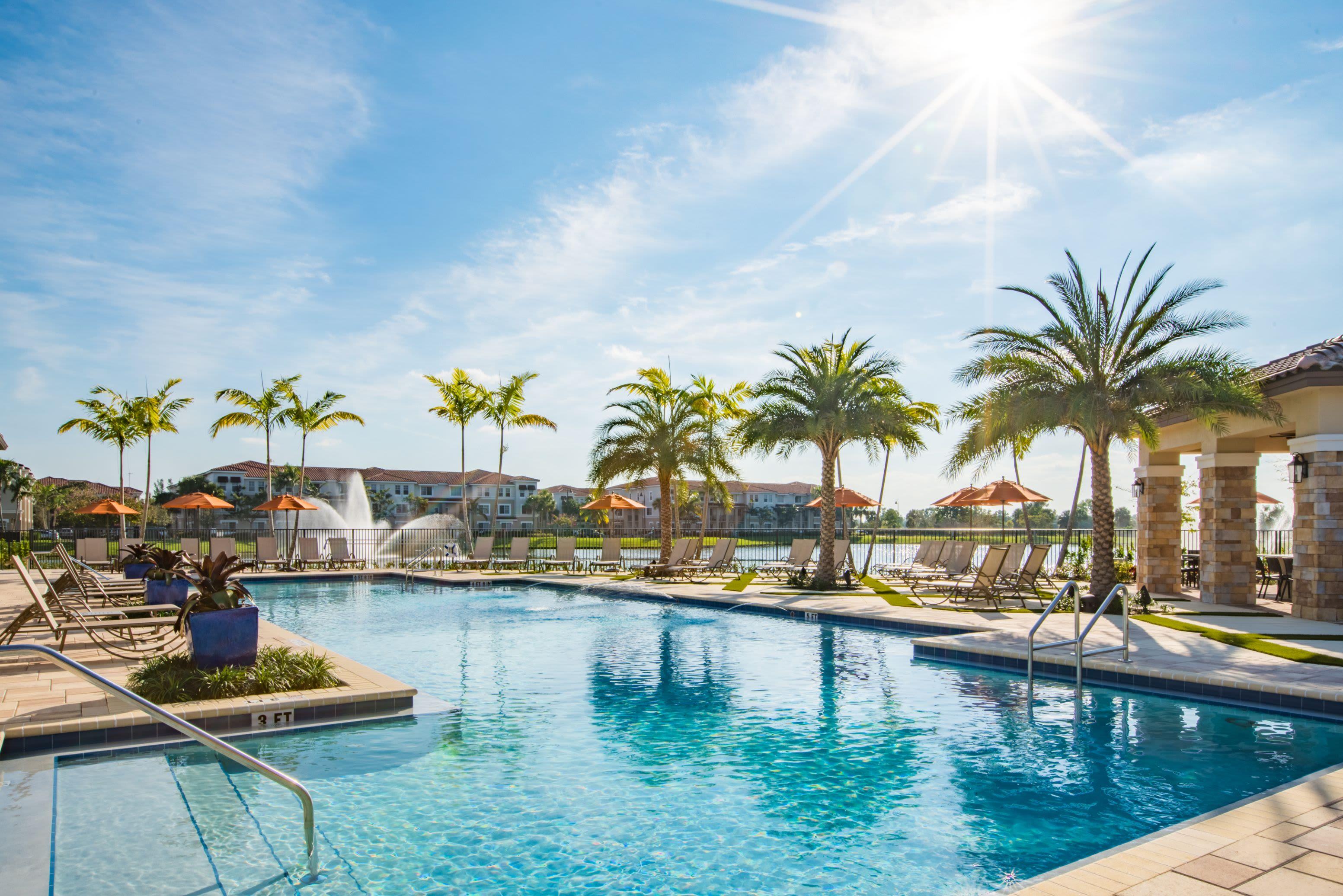 Stunning Swimming Pool at Luma Miramar Apartments in Miramar, Florida.