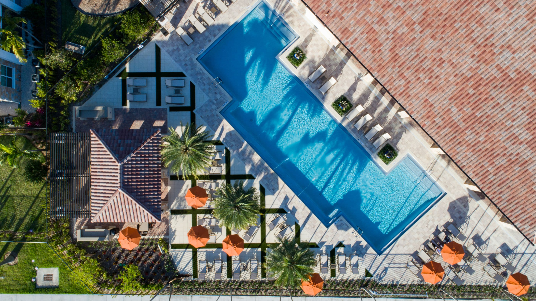 Aerial of Pool Area at Luma Miramar Apartments in Miramar, Florida