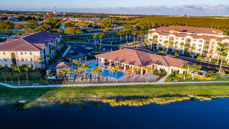 Aerial of Pool & Exteriors at Luma Miramar Apartments in Miramar, Florida.