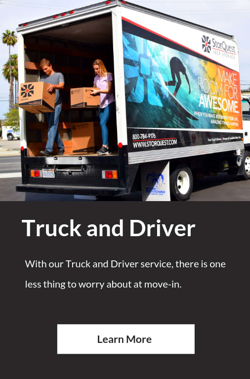 Truck and Driver at StorQuest Self Storage in Santa Monica, CA