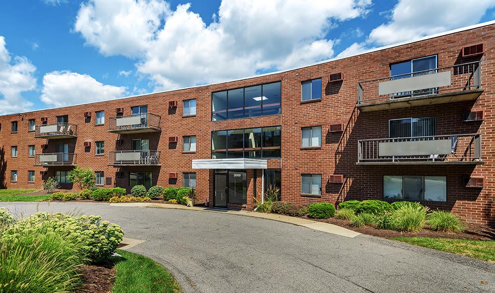 Exterior at apartments in Pittsburgh, Pennsylvania