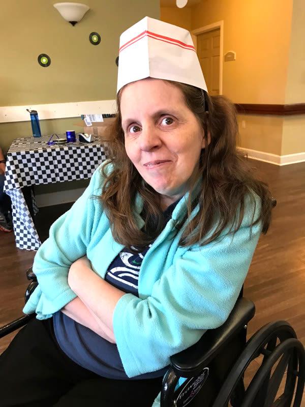 memory care birthday party at Bridgecreek